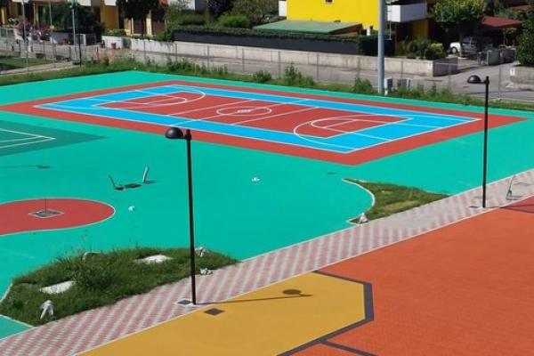 asfalto stampato colorato campo sportivo 2
