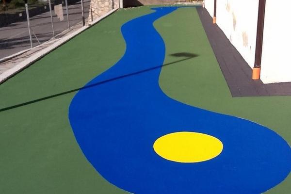 asfalto stampato colorato con verace 1