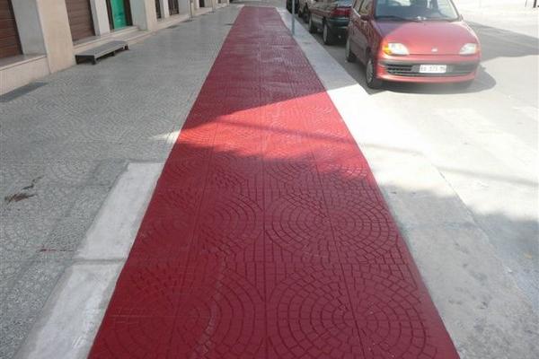 asfalto stampato manto rosso 6